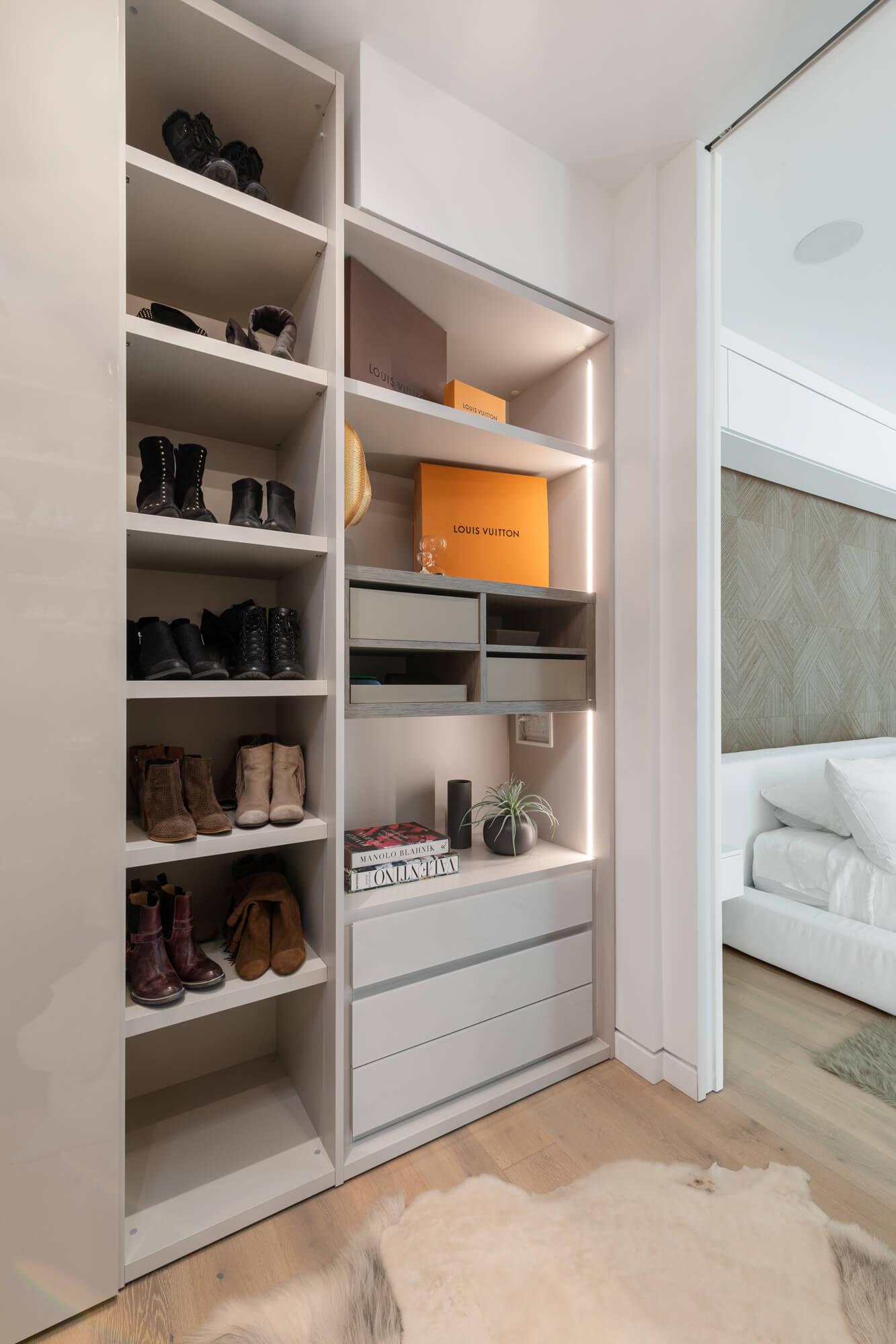 Cincinnati Custom Closet designed by Interior Designer RM Interiors